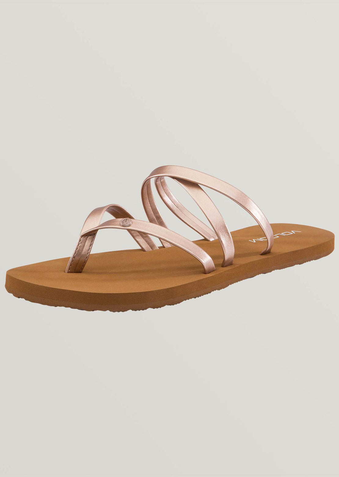 Volcom Women's Easy Breezy II Sandals Rose Gold