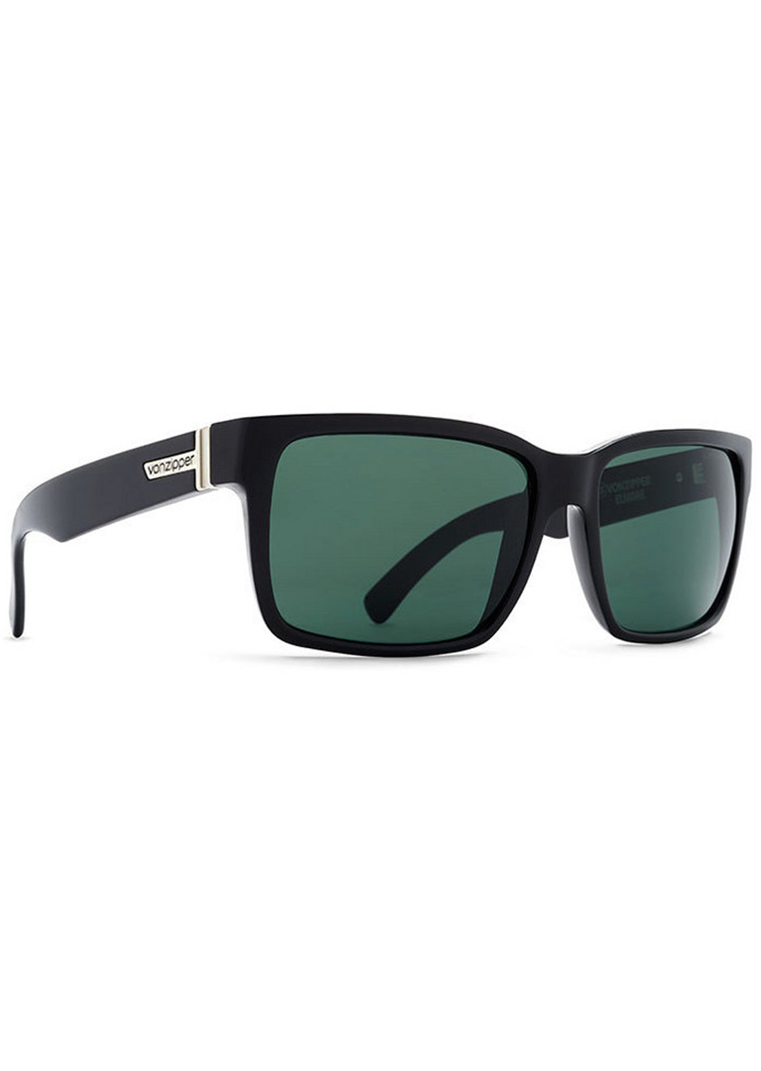 Von Zipper Men's Elmore Sunglasses Black Gloss/Vintage Grey
