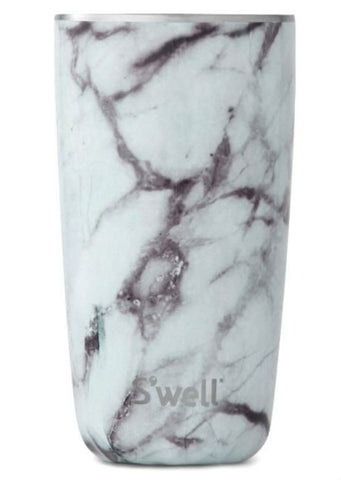 S'Well Tumbler White Marble - 18 OZ
