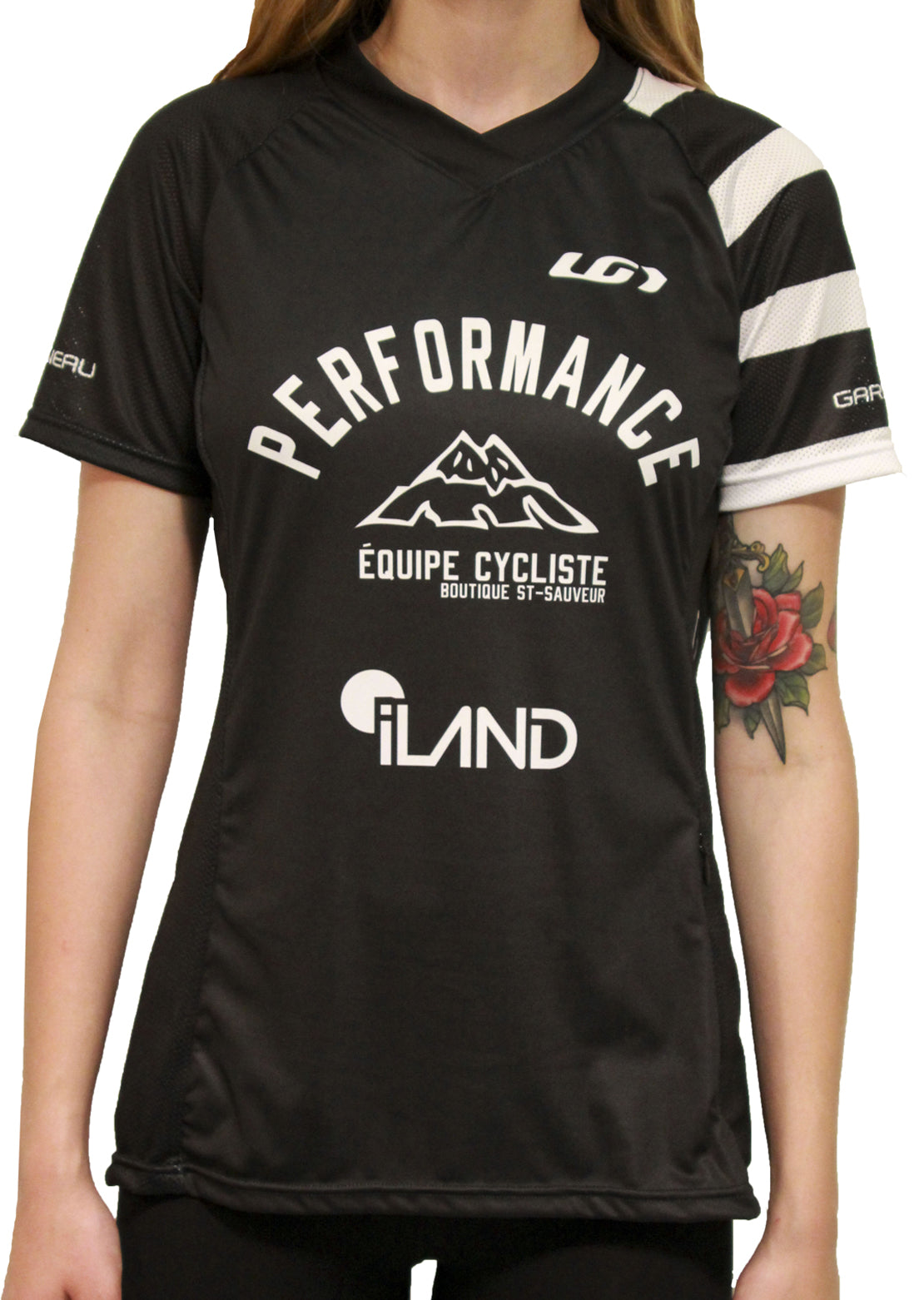 Garneau X PRFO Women's All Mountain Bike Short Sleeve Jersey Black/White