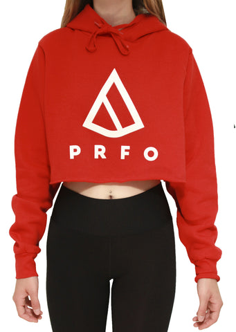PRFO Women's Icon Knit Crop Hoodie Red