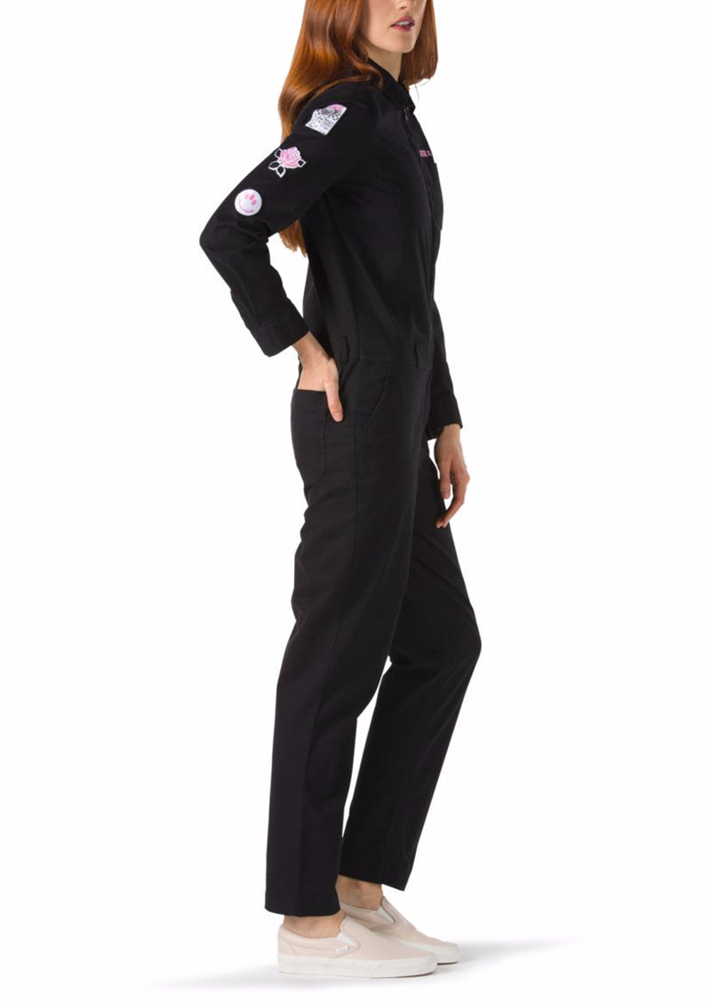Vans Women's Lady Vans Coverall Jumpsuit Black