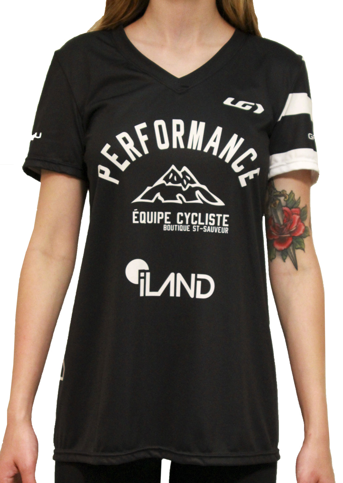 Garneau X PRFO Women's Team-T Zircon T-Shirt Black/White