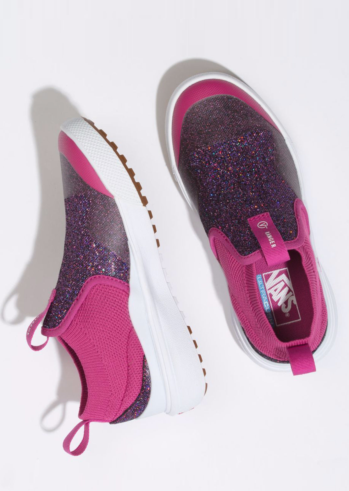 Vans Junior Xtreme Ranger Glitter Mesh Shoes (Glitter Mesh) Purple/True White