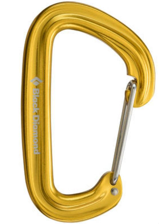 Black Diamond Neutrino Carabiner - Yellow