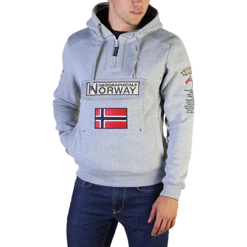 Geographical Norway Clothing Sweatshirts grey / S Geographical Norway - Gymclass007_man