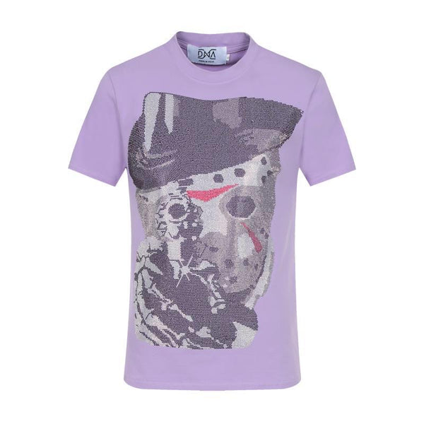 DNA Men Point Blank Tee With Stones Lavender - BLVD
