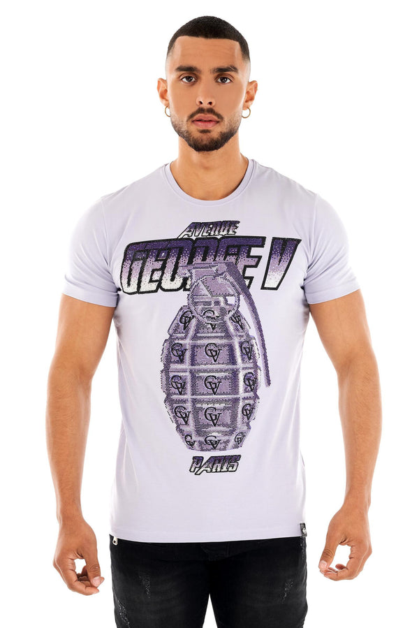 George V Men Bomb Stones Tee (Purple) - BLVD