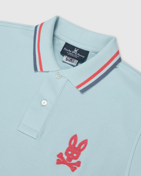 Psycho Bunny Men's Underwood Polo Shirt Corydalis blue - BLVD