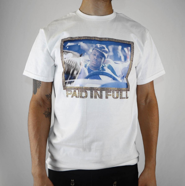 Paid In Full Men T-shirt White /Blue /Gold - BLVD