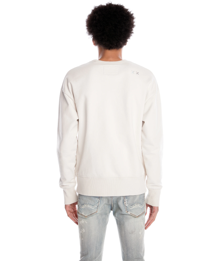 Cult of Individuality Crewneck Sweatshirt In Cream - BLVD