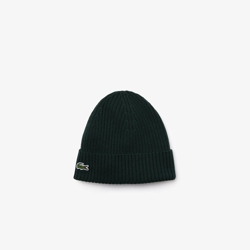 Lacoste Men's Ribbed Wool Beanie (Green) - BLVD