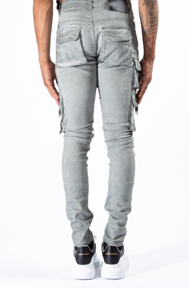 Serenede Timber Wolf Cargo Jeans Espresso Artic Grey - BLVD