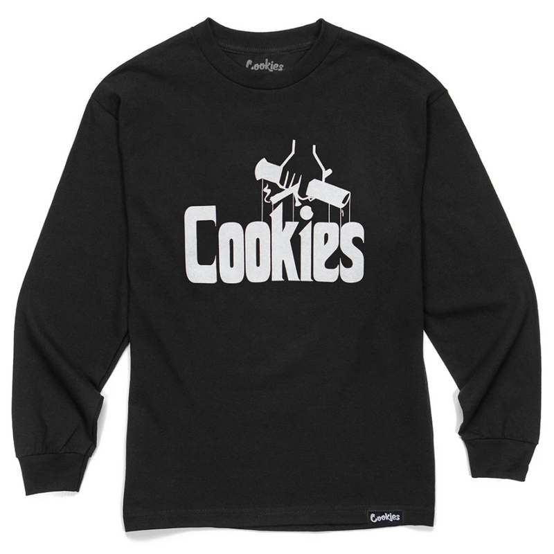 Men Cookies Government Long Sleeve Tee Black - BLVD