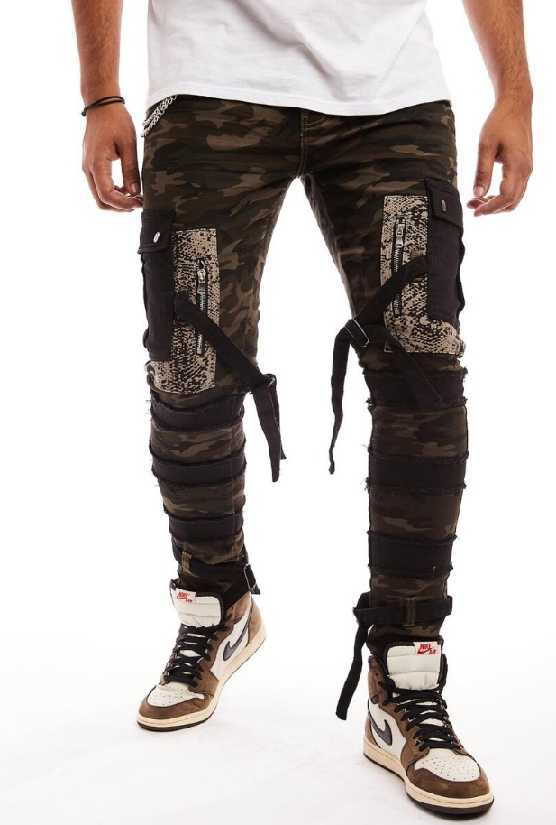 Reelistik Bactrian Tech Camo Stretch Slim Fit Army - BLVD