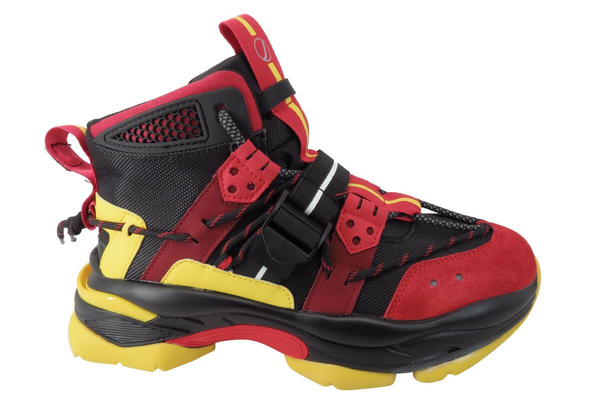 Javi Men Hub Boots Sneaker Red Black Yellow - BLVD