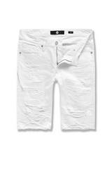 Jordan Craig Belmar Men Twill Shorts (White) - BLVD