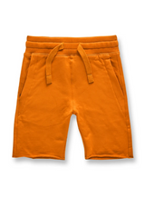 Kids Jordan Craig Cotton Shorts ( Orange ) - BLVD