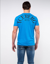 Iceberg T-shirt with red and blue Michelangelo design Blue - BLVD