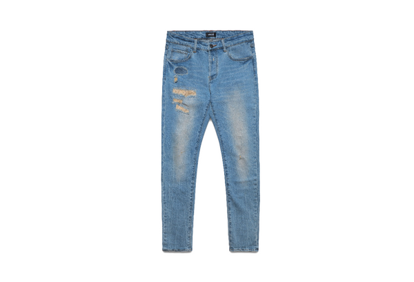 Bluecarats The Mcqueen 5-pkt Slim-fit Jean - Light Distressed Indigo