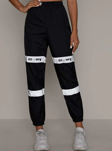 "ILLUSORY ""REFLECTIVE LINE"" PANTS"