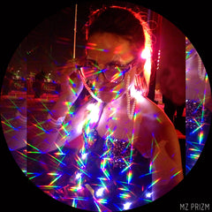Mz Prizm Carolyn Nickell founder of Prizm Space, maker of PrizmEyez light diffraction glasses and more accessories perfect for music festivals and raves