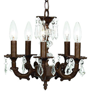 coco chandelier is a five light in a mocha brown finish with dazzling clear c