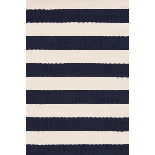 yachtt stripe rug shown in black and white