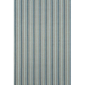 crew blue and light blue vertical stripe rug