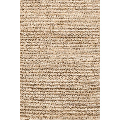 close up of jute rug showing beige woven texture