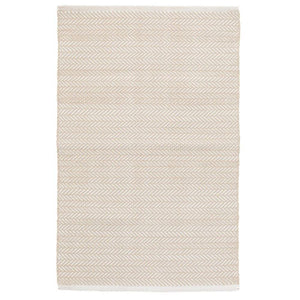 linen herringbone patterned rug