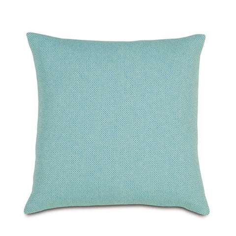 boho teal pillow with tight weave 22x22