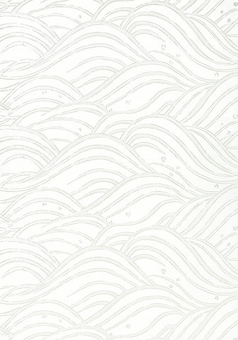 Whimsy Wave Wallpaper in Pearl
