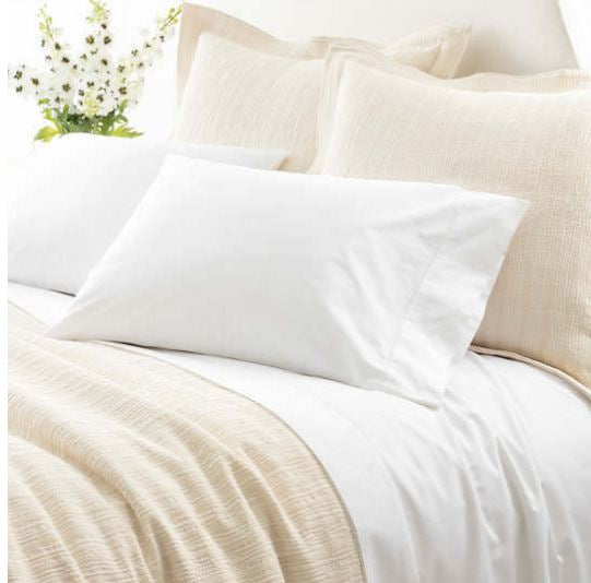 rudy hemstitch sheet set featured in white