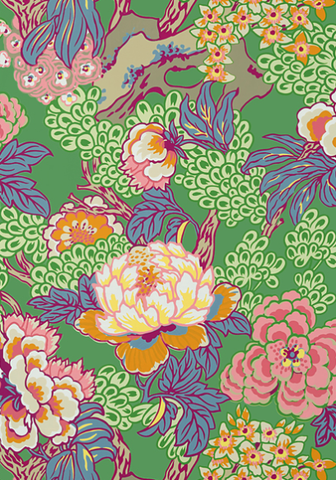 Ohana Wallpaer in Green