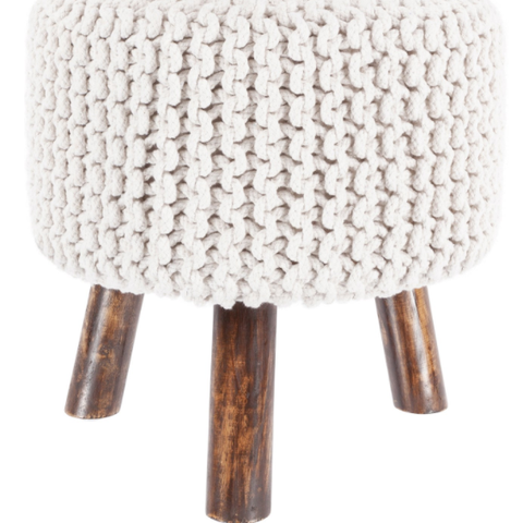 Nelly Stool in White