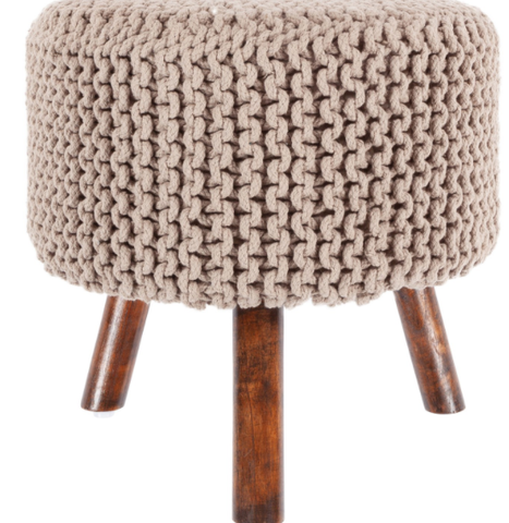 Nelly Stool in Taupe