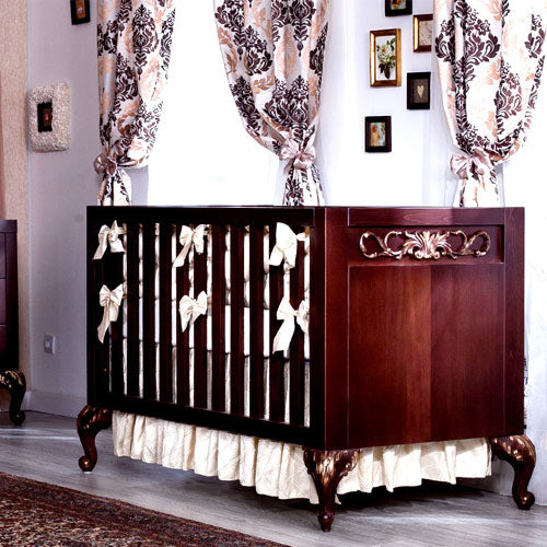 Chelsea Crib Cherry with Gold Patina