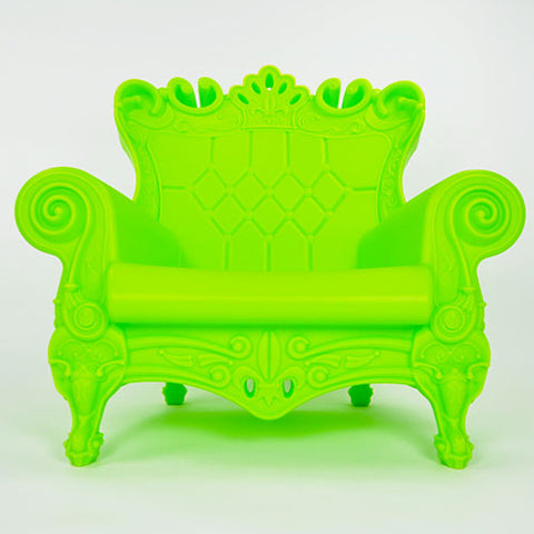 trudy youth chair shown in bright lime with a european style, made from recycled polyethylene