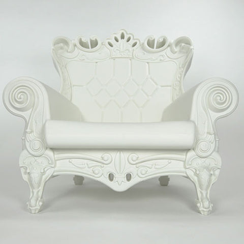 trudy youth chair shown in white with european style made from recycled polyethylene