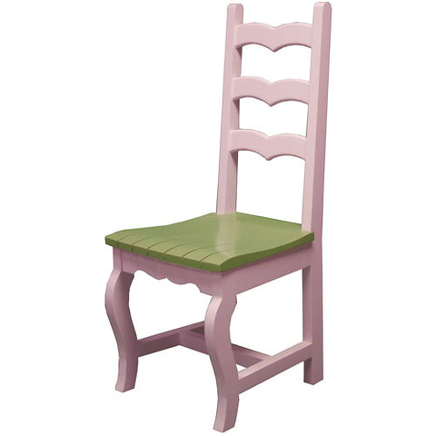 sallie desk chair II shown in pink with sage green seat, suitable for kids