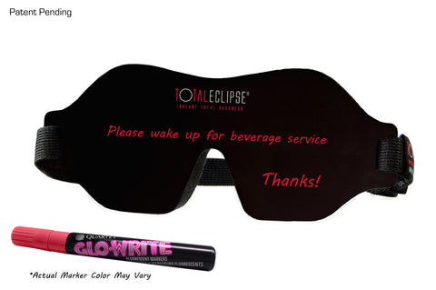 1/4 front view image of TOTAL ECLIPSE - Blackboard Sleep Mask
