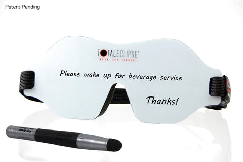 1/4 front view image of TOTAL ECLIPSE - Whiteboard Sleep Mask