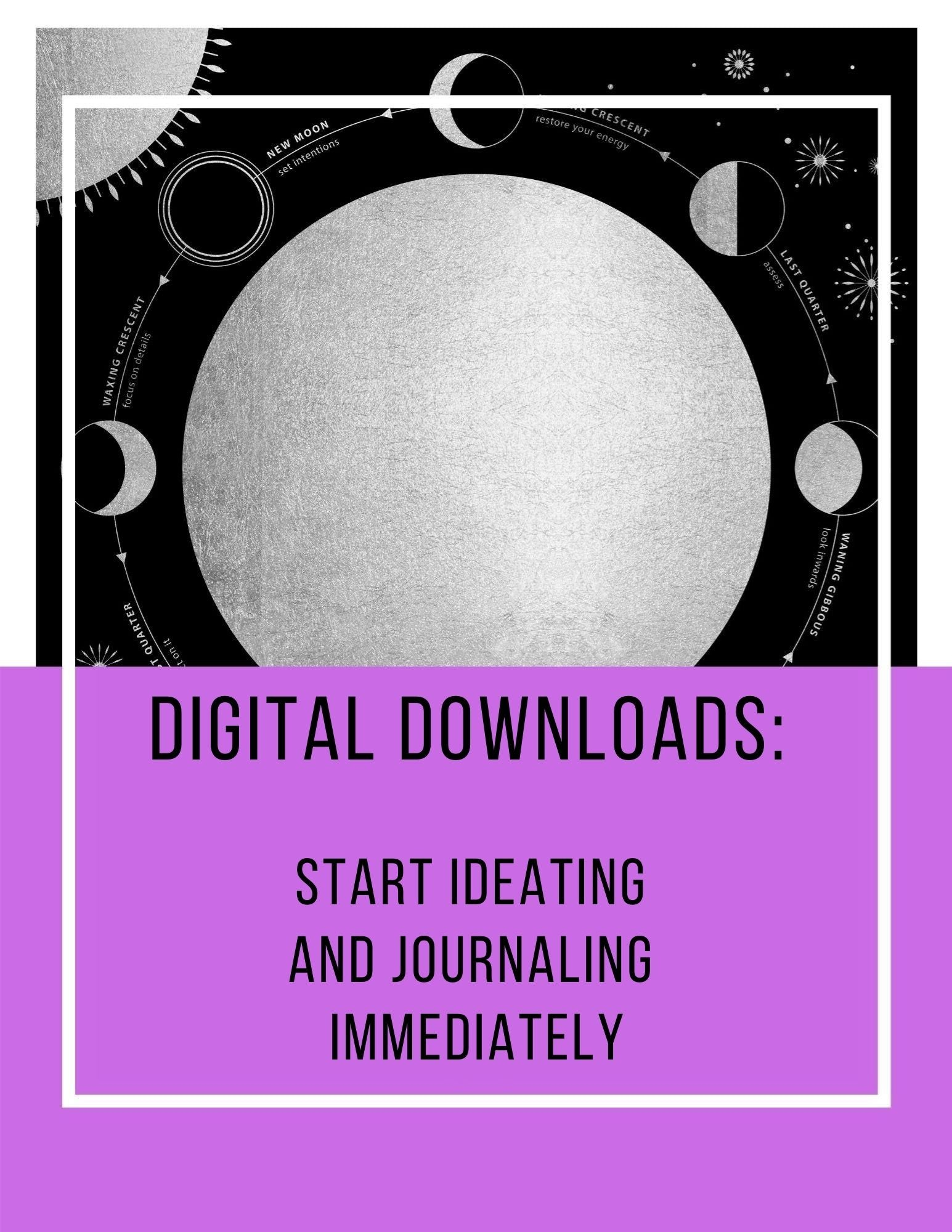 Moon Phases Companion Workbook: Digital Download