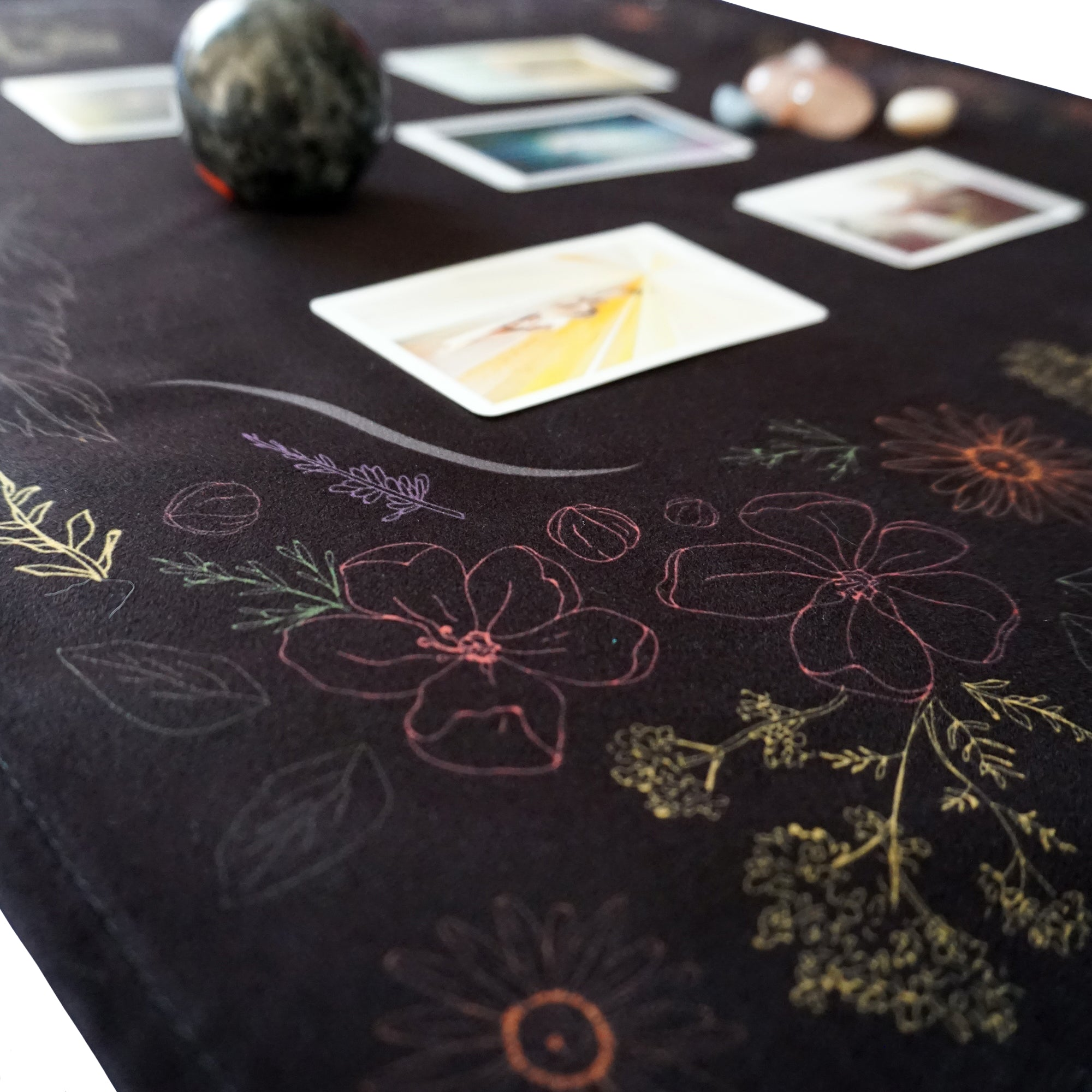 Kitchen Witch Herbology, Smoke Cleansing, Altar-Tarot Cloth