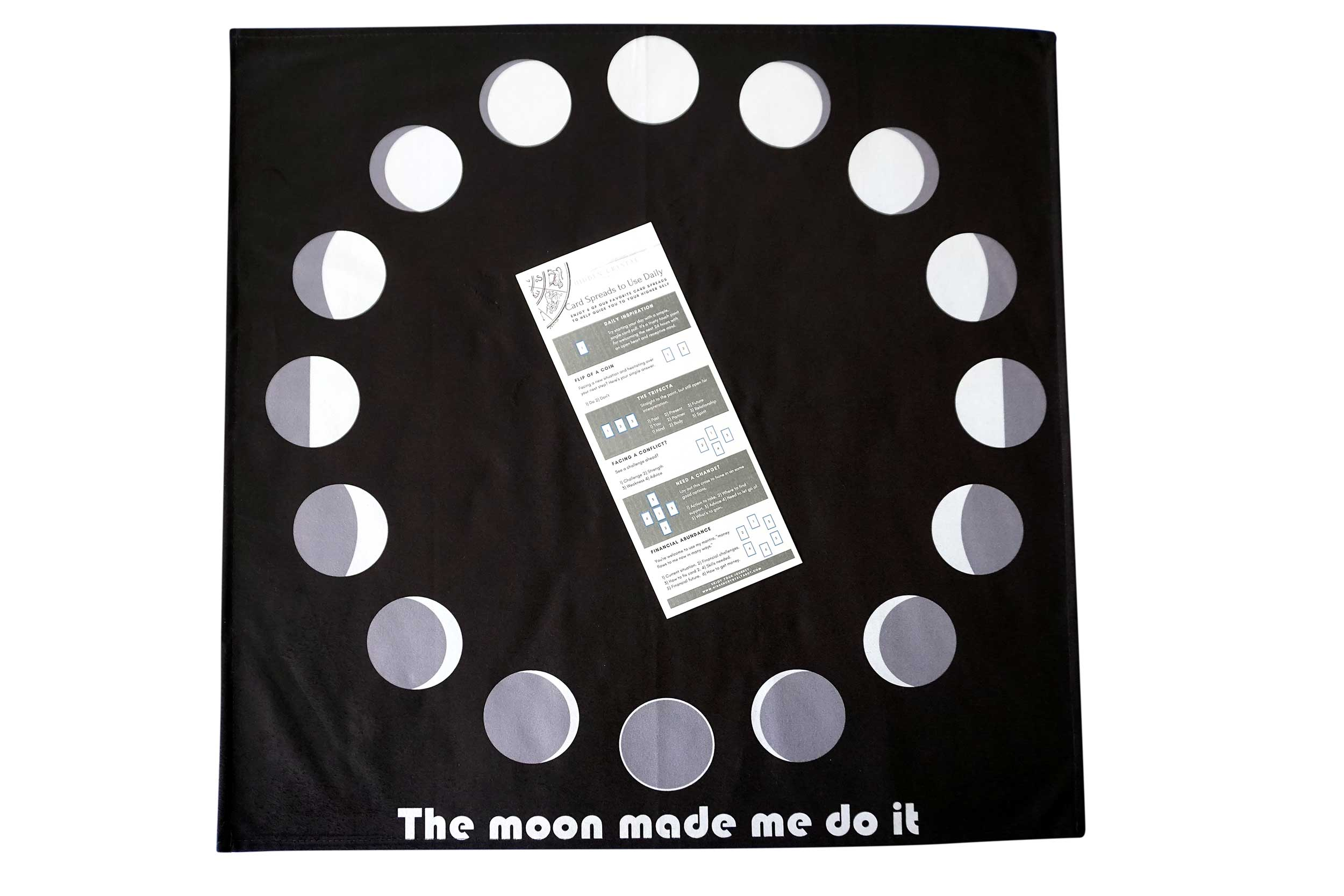 The Moon Made Me Do It Altar-Tarot Cloth