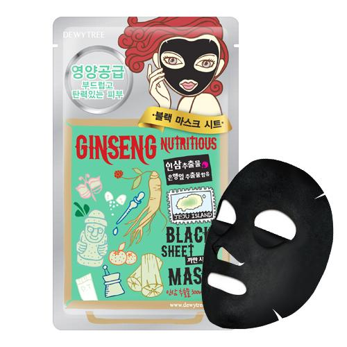 DEWY TREE Ginseng Nutritious Black Sheet Mask - FLETNA Korean Cosmetics