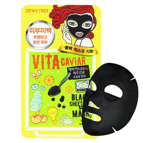DEWY TREE Vita Caviar Black Mask - FLETNA Korean Cosmetics
