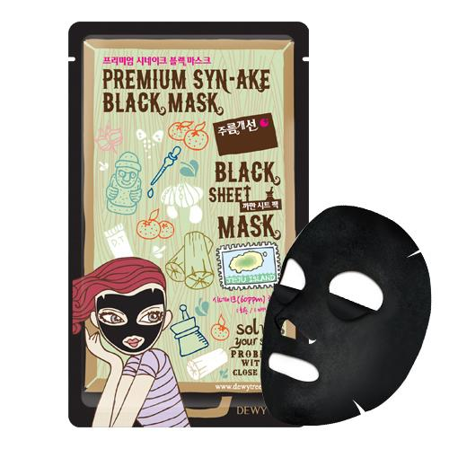 DEWY TREE Premium Synake Black Mask - FLETNA Korean Cosmetics