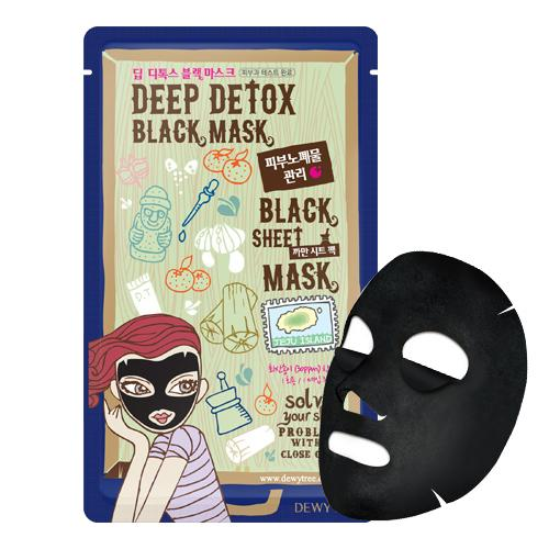 DEWY TREE Deep Detox Black Mask - FLETNA Korean Cosmetics